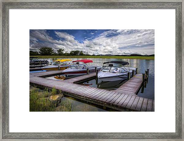 Framed Print featuring the photograph Ski Nautique by Debra and Dave Vanderlaan