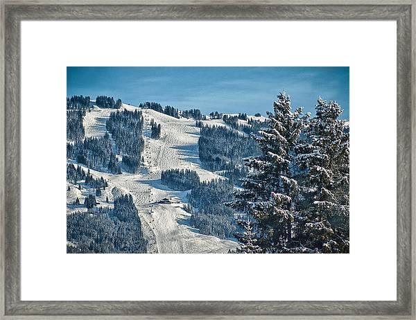 Ski Run Framed Print