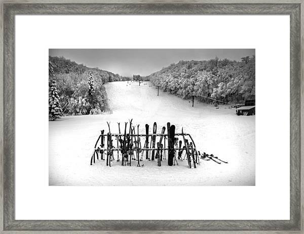 Ski Vermont At Middlebury Snow Bowl Framed Print