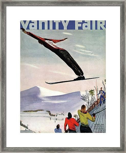 Ski Jump On Vanity Fair Cover Framed Print