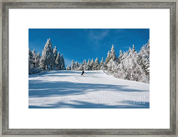 Skiers Paradise Framed Print