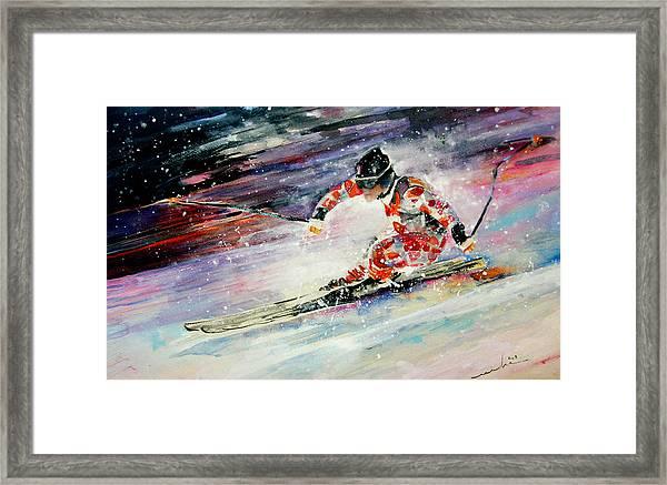 Skiing 01 Framed Print