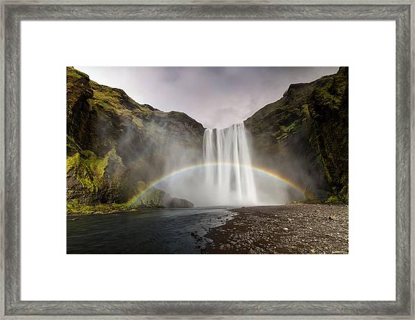 Skogarfoss Waterfall Framed Print