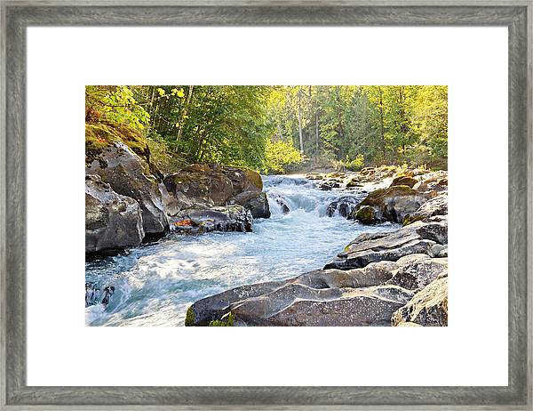 Skutz Falls At Cowichan River Provincial Park Framed Print
