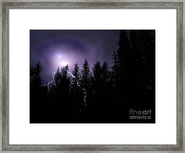 Sky Bolt Framed Print