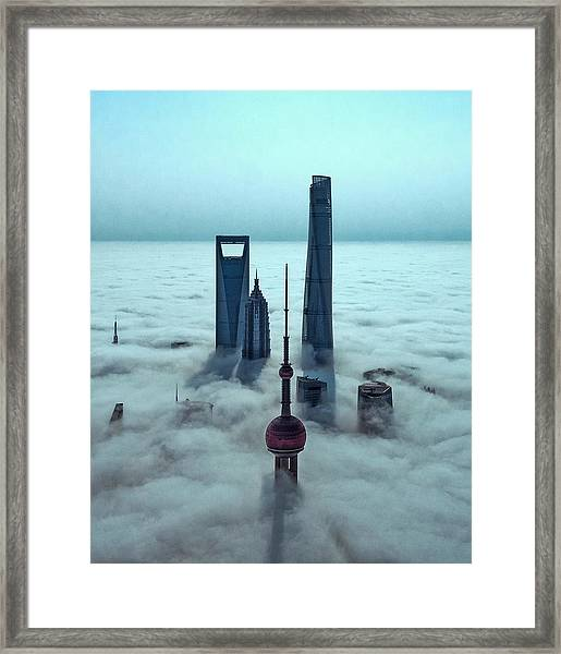 Sky City Framed Print