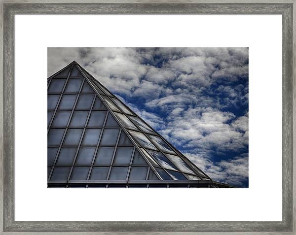 Sky Clouds And Glass Framed Print by Robert Ullmann