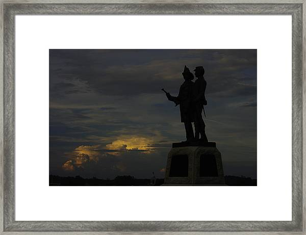 Sky Fire - 73rd Ny Infantry 4th Excelsior 2nd Fire Zouaves - Summer Evening Thunderstorms Gettysburg Framed Print
