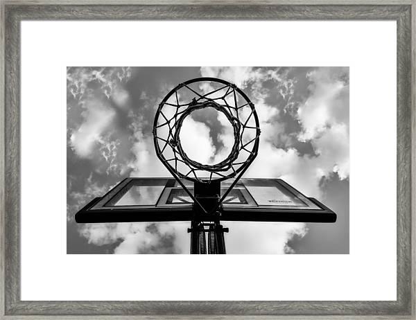 Sky Hoop Basketball Time Framed Print