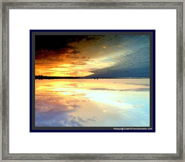 Sky Meets Water Framed Print by Satya Winkelman