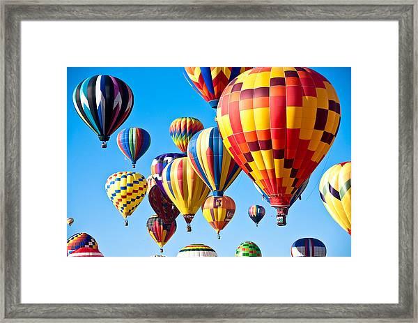 Sky Of Color Framed Print