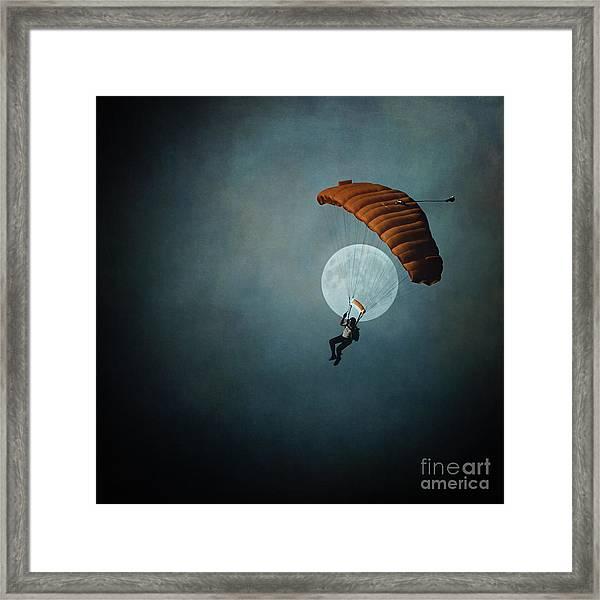 Skydiver's Moon Framed Print