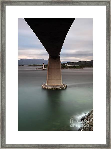 Skye Bridge At Sunset Framed Print