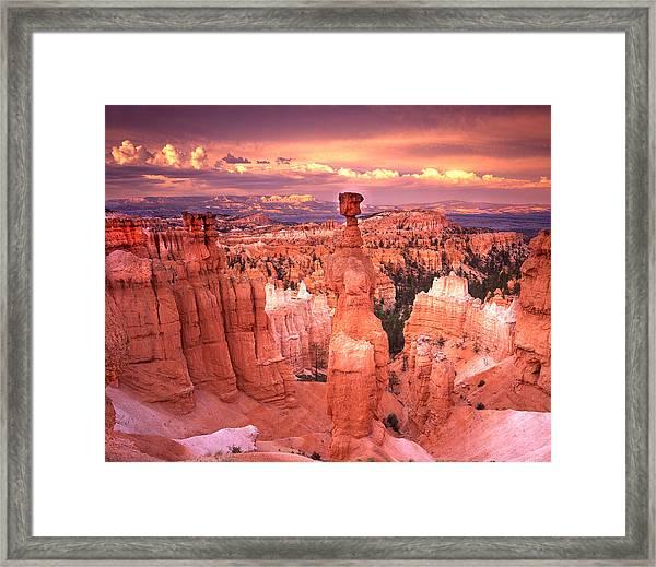 Skylight Over Bryce Framed Print