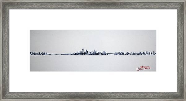 Skyline 10x30-2 Framed Print