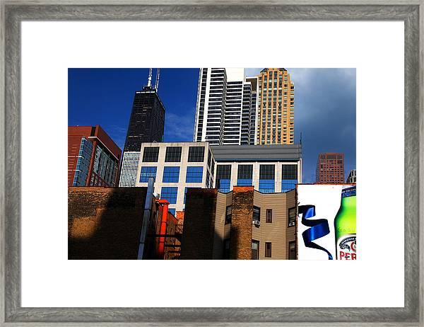 Skyline Building Blocks Framed Print