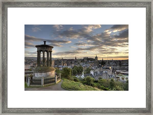 Skyline Of Edinburgh Scotland Framed Print
