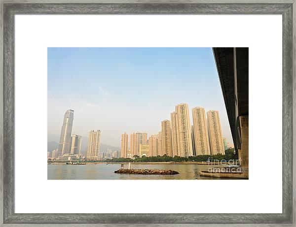 Skyscrapers In Hong Kong Framed Print