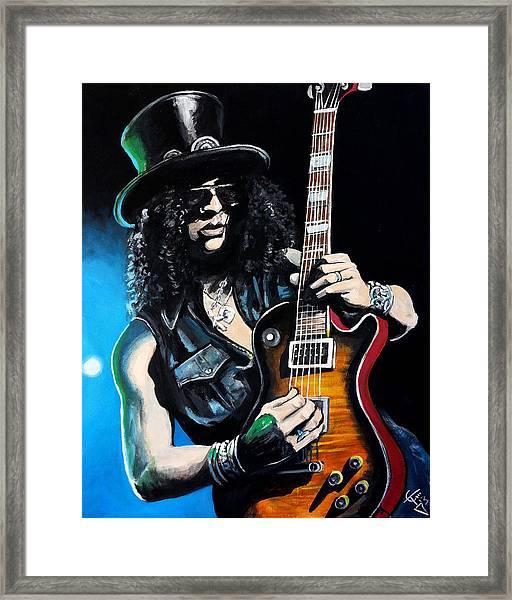 Slash Framed Print by Tom Carlton