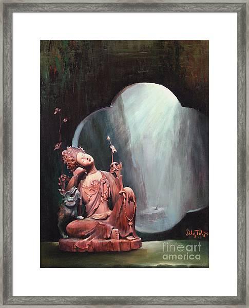Sleeping Kuan Yin Framed Print