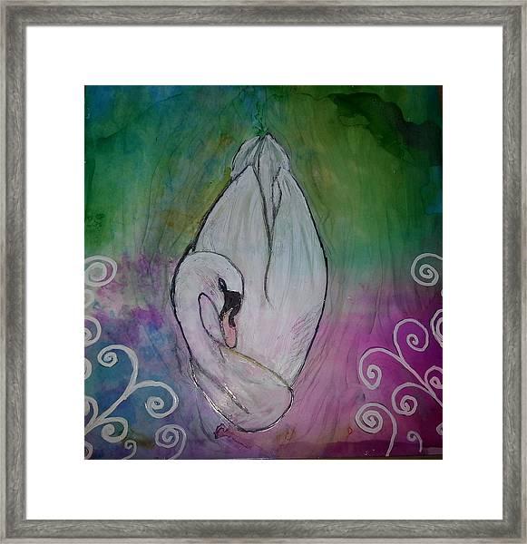 Sleeping Swan Framed Print