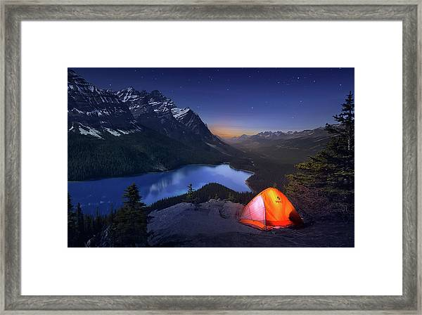 Sleeping With The Stars Framed Print