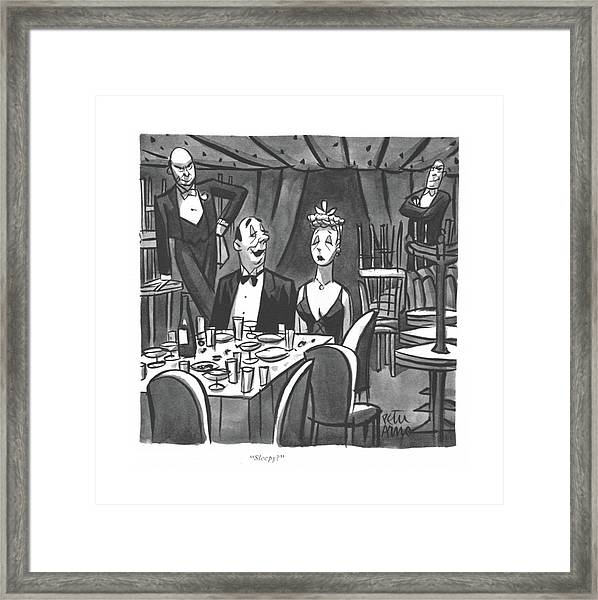 Sleepy? Framed Print