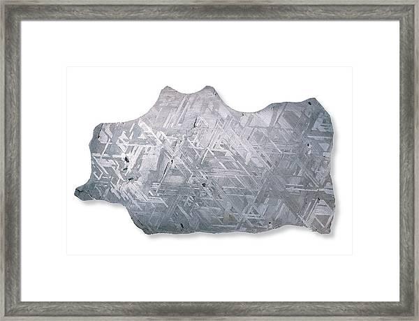 Slice Of Canyon Diablo Meteorite Framed Print