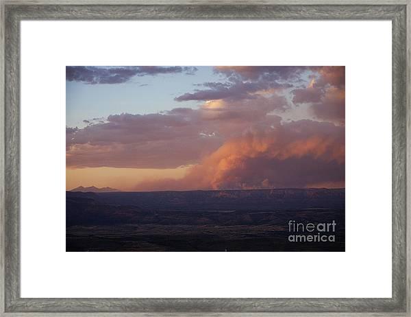 Slide Fire Sunset Framed Print