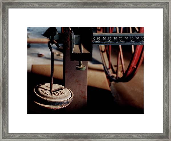 Sliding Scale - Vintage Fairbanks Scales Framed Print
