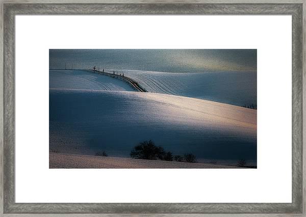Sloping Road Framed Print by Marek Boguszak