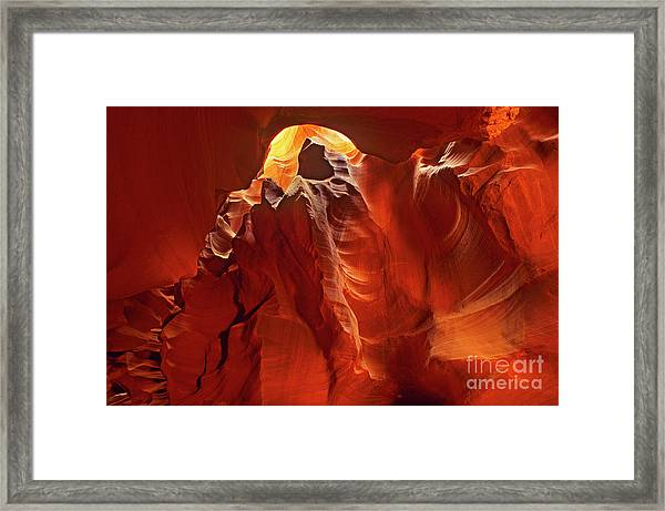 Slot Canyon Formations In Upper Antelope Canyon Arizona Framed Print