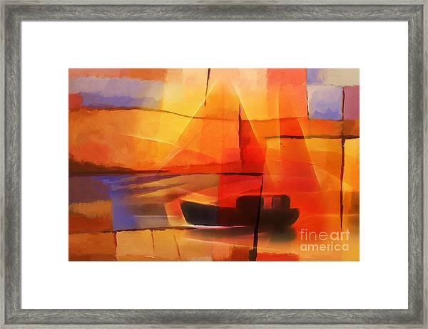 Slow Boat Framed Print