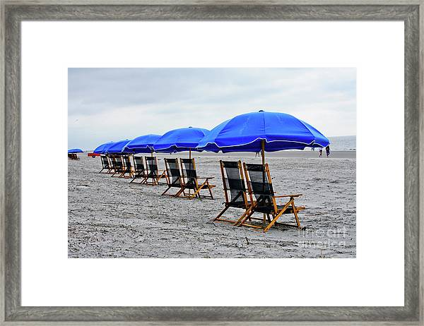 Slow Day At The  Beach Framed Print