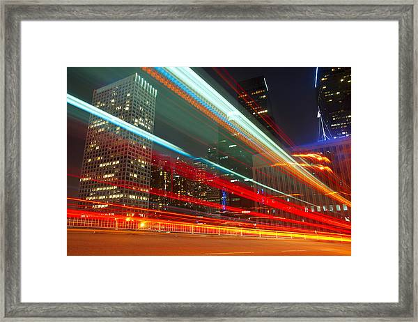 Slow Motion La Framed Print