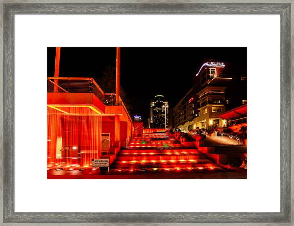 Smale Park At Night Framed Print