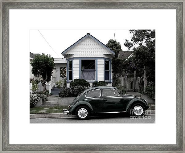 Small House With A Bug Framed Print