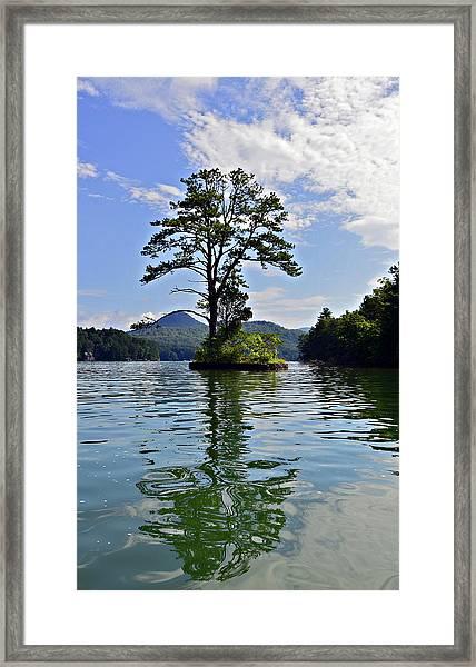 Small Island Framed Print