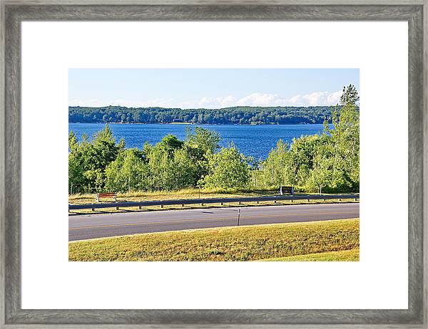 Small Town Georgian Bay Waterfront Views Framed Print