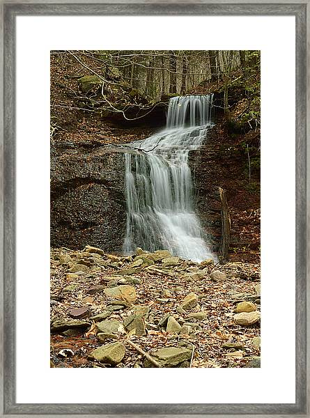 Small Tributary Falls To Heberly Run #1 Framed Print