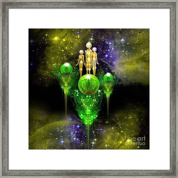 Smaragdine City Framed Print