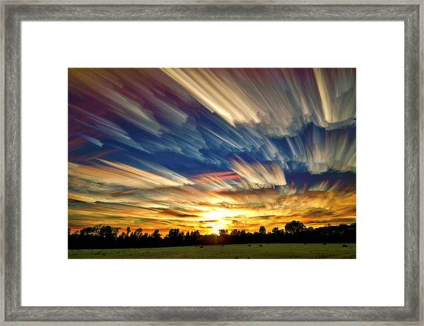 Smeared Sky Sunset Framed Print