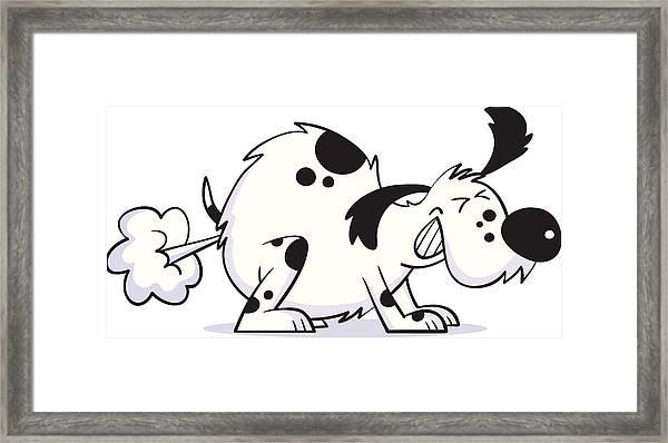Smelly Dog Framed Print by Smokeyjo