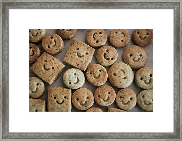 Smile Cookies Framed Print by Cocoaloco