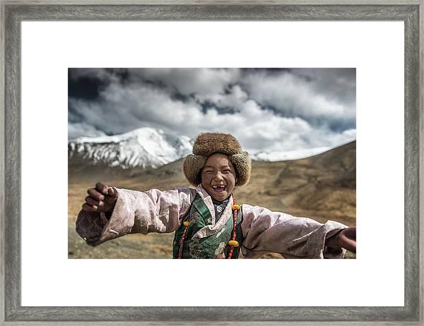 Smile {tibet} Framed Print