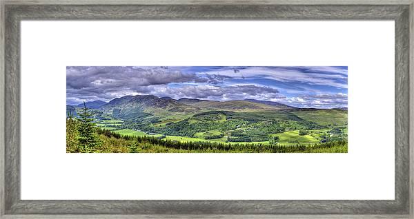 Smile Upon The Highlands Framed Print