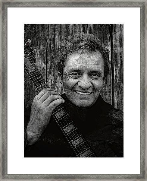 Smiling Johnny Cash Framed Print