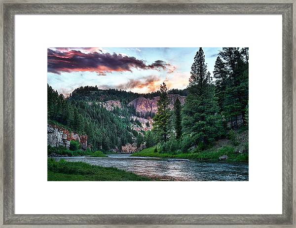 Smith River At Dusk Framed Print