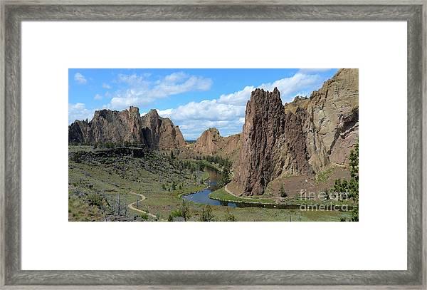 Smith Rocks Framed Print