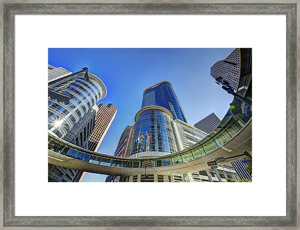 Smith Street Circle Framed Print